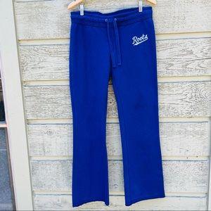 Roots Canada Blue Wide Leg Sweatpants Size Medium